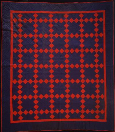 Ann Carll Coverlet: Blazing Star and Snowballs