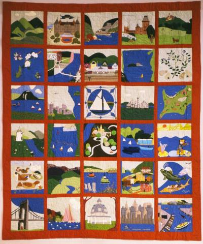 Baltimore-Style Album Quilt Top
